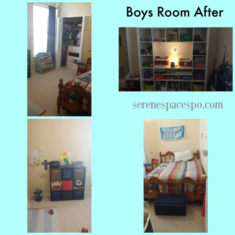 boys bedroom after organzing